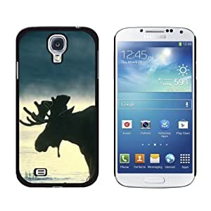 New style Moose Snap-On Hard Protective Case for Samsung Galaxy S4 - Non-Retail Packaging - Black