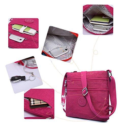 Fashion for Satchel Body Crossbody Shoulder Sport Bag Side Foino Red Messenger Pack Girls Women Bag Bag Casual Cross Travel 1 vZO7Xq
