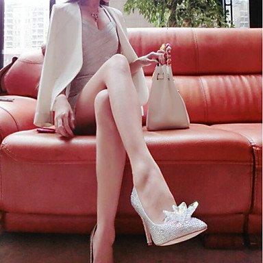 Scarpe high e da in cirior scarpe tacco tacchi Heels heels argento tacco plastica vestito con matrimonio Argento High donna da donna Stöckel a punta xXwqqIUO0
