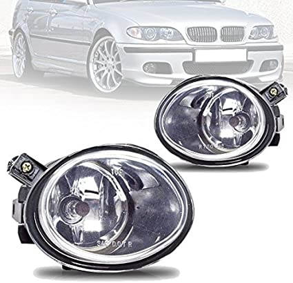 Amber Real Glass Lens w// 9006 12V 55W Bulbs Fog Lights For BMW E46 M3 2001-2006 E39 M5 2000-2003 330I Sedan with ZHP Package 2003-2005 330CI Coupe /& Convertible with ZHP Package 2004-2006