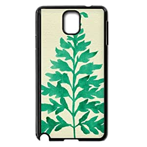 Samsung Galaxy Note 3 Cell Phone Case Black Mint Fern TJ2753910