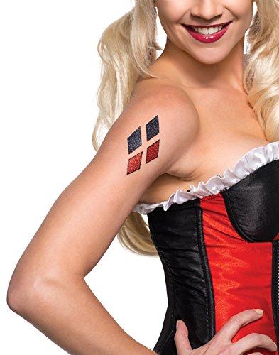 Rubie's Women's DC Superheroes Harley Quinn Glitter Tattoo,