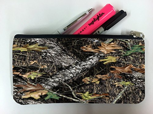 Mossy Oak Pattern Camo Student Pen Pencil Case Coin Purse Pouch Cosemetic Makeup Bag