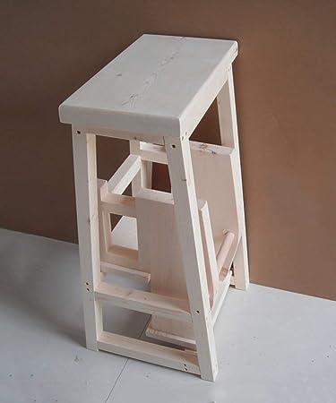 JTD Inicio Elegante y simple Taburete plegable con 3 escalones Taburete con escalera multifunción Escalera nórdica creativa para silla de madera maciza, 4 colores Taburete con escalones opcional,ma: Amazon.es: Bricolaje y herramientas