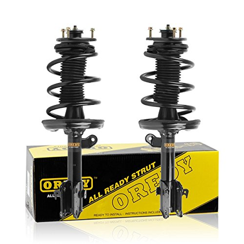 (OREDY Front Pair Complete Struts Assembly Shock Coil Spring Assembly Kit Replacement for Honda Ridgeline 2006 2007 2008 2009 2010 2011 2012 2013 2014#11505 11506 72344 72343 55S11505 9214-0321)