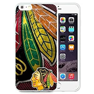 Unique and Fashionable Iphone 6 Plus Case Design with Chicago Blackhawks White TPU case for iphone 6 Plus 5.5 Inch