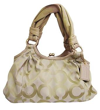 Image Unavailable. Image not available for. Color  Authentic Coach Parker  Op ART Satchel Shopper Bag 13441 Khaki sand rosegold e61127f5b8e79