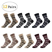 SOXTOWN Womens Super Soft Comfy Casual Cotton Socks,6 Colors 12 Pairs Multiple Color Combinations for You Choice (mix1)
