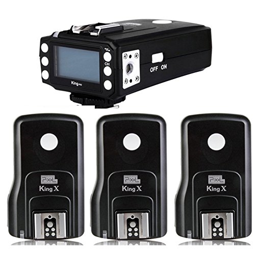 Pixel King Pro Radio ETTL HSS 1/8000S LCD Flash Trigger 1 Transmitter+3 Receiver for Canon Camera and Speedlite Pixel X800C X800c pro by Pixel