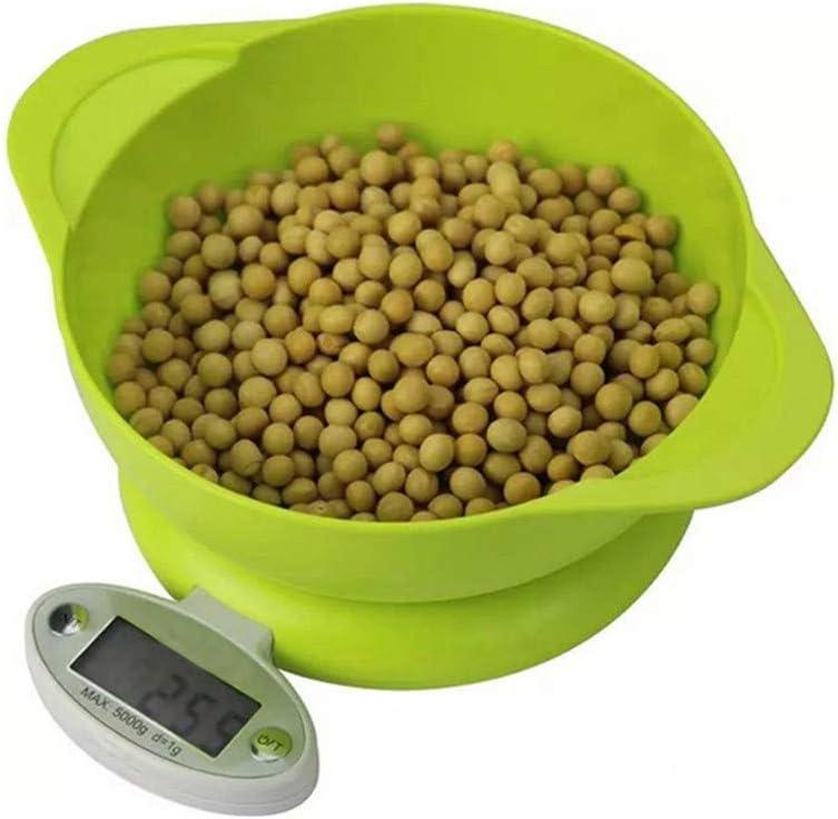 Qinmo Escala electrónica, escalas de pesaje inteligente Escala de cocina Escala digital Escala electrónica Material de medicina Escala a escala de alimentos Escala de hornada de hogares 5 kg / 1g gram