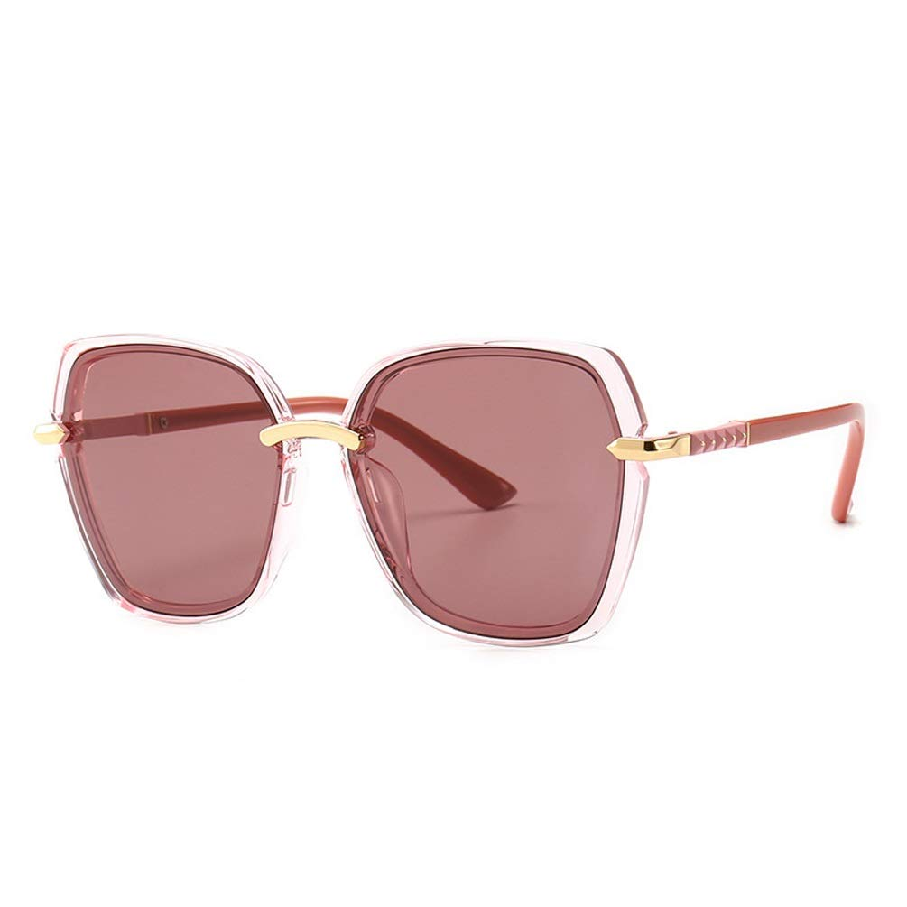 E Women's Sunglasses Driving Net Red Glasses Large Frame Mirror UV400 Tide Classic RadiationProof Sunglasses (color   D)