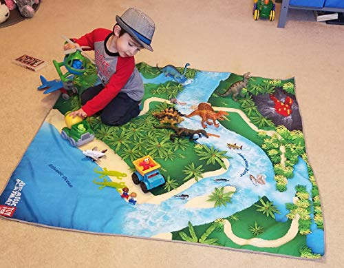 Toy Dinosaur Play Mat for Toy Animals |Jurassic PlayMat | Foldable Solution |Large Size 54