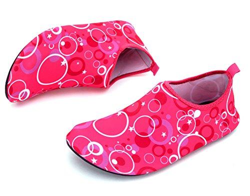 Giotto Barfota Vatten Skor Yoga Strand Simma Aqua Skor För Kvinnor Män F-rosa