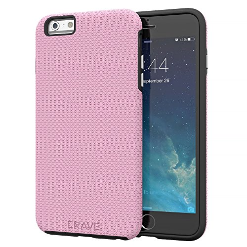 iPhone 6S Plus Case, Crave Dual Guard Protection Series Case for iPhone 6 6s (5.5 Inch) - Pink