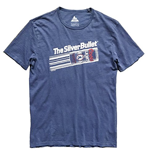Lucky Brand Men's Blue Coors Silver Bullet Tee (X-Large) ()