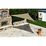 Coolaroo Ready to Hang Shade Sail Canopy 11 Foot 10 Inch Triangle - Southern Sunset