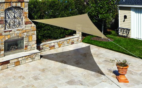 "Coolaroo Shade Sail, Triangle Ready to Hang Shade Sail, 11'10"", Southern Sunset"