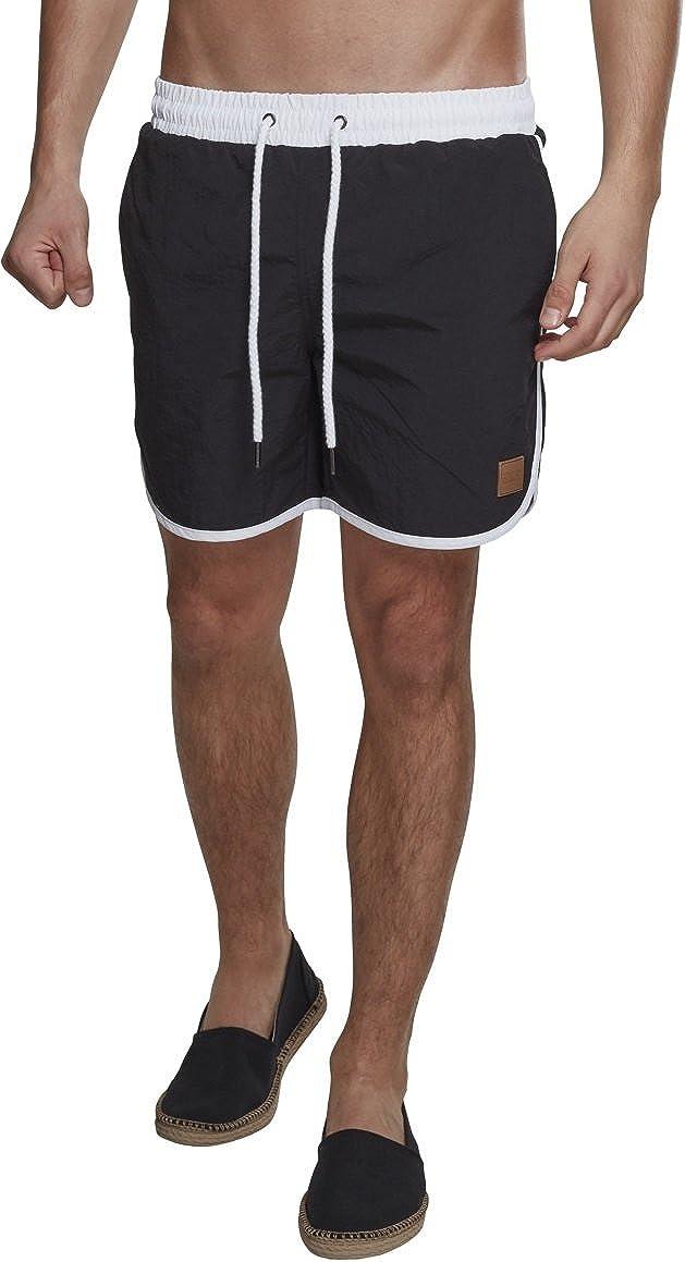 Urban Classics Retro Swimshorts Camiseta de natación para Hombre