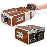 Aluoflower Portable DIY Cardboard Smartphone Projector Cinema Mini Projector