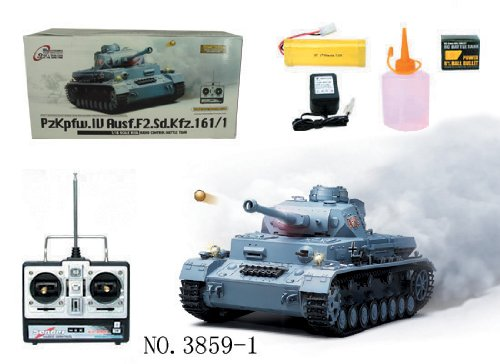 1/16 Radio Remote Control Tank Panzerkampfwagen IV Ausf. F2 (Sd.Kfz 161/1) Airsoft RC Battle Tank w/ Sound & Smoking Effect ()