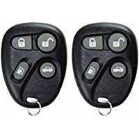KeylessOption Keyless Entry Remote Control Car Key Fob Replacement for 25656445, KOBUT1BT (Pack of 2)