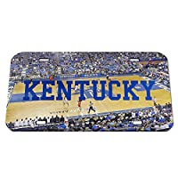 NCAA Kentucky Wildcats Basketball Court Crystal Mirror License Plate, 6 x 12-Inch