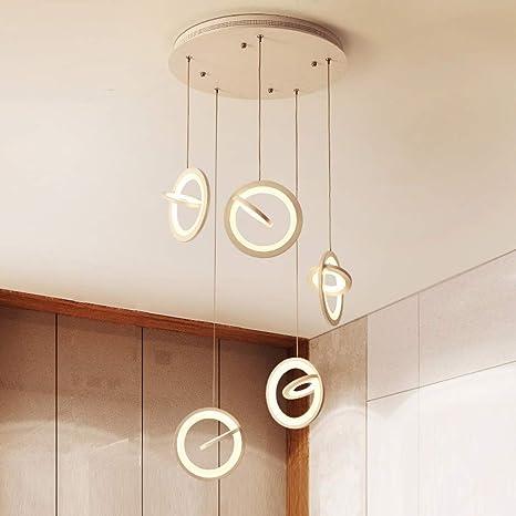 colgante redonda LJJ colgante creativa LED Lámpara Lámpara 0nwvmN8