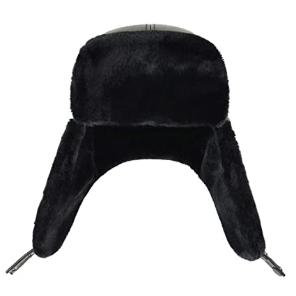 932981f7f Amazon.com : Winter Trooper Hat Shearling Sheepskin Leather Aviator ...