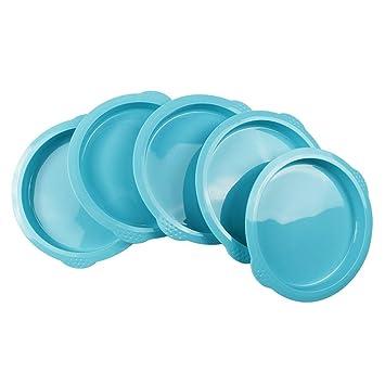 webake Juego de sartenes para pastel de silicona de 5 piezas Conjunto Molde para pastel de arco iris de 6 pulgadas Molde para pizza: Amazon.es: Hogar
