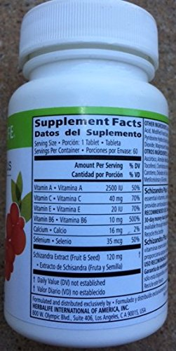 Amazon.com: Herbalife Schizandra Plus with Essential Vitamins and Selenium: Health & Personal Care