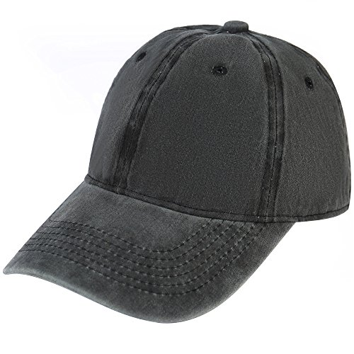 Vapelas Baseball Cap Athletic Fitted Unisex Adjustable Washed Cotton Ball Hat for Man and Woman