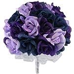 Navy-Blue-Lavender-and-Purple-Silk-Rose-Hand-Tie-3-Dozen-Roses-Bridal-Wedding-Bouquet