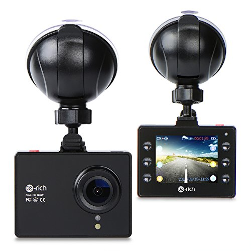 Te-Rich Full HD 1080P Discreet Dashboard Camera Car DVR Vehicle Dash Cam with Parking Monitor, Loop Recording, WDR, G-Sensor
