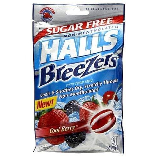 Drops Cool Berry (Halls Breezers Lozenges Sugar Free Cool Berry - 7 mg 20 ea)