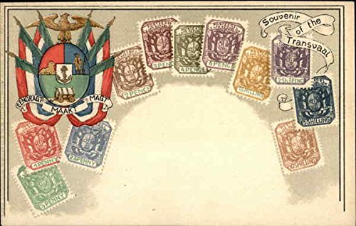 South African Stamps - South African Republic or Transvaal Stamp Postcards Original Vintage Postcard