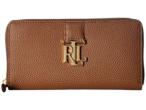 (LAUREN Ralph Lauren Women's Carrington Zip Wallet Field Brown One Size)