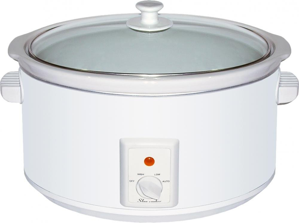 Brentwood Appliances SC-165W 8-Quart Slow Cooker, 6.5, White