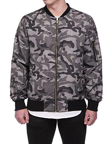 - HEQU Men's Camouflage Military Flight Bomber Jacket Deep Grey XL