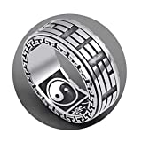Best AnaZoz Friend Ying Yangs - AnaZoz S925 Sterling Silver Men Rings Taiji Ying Review