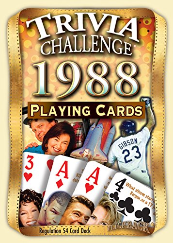 (Flickback Media, Inc. 1988 Trivia Playing Cards: Happy 31st Birthday or 31st)