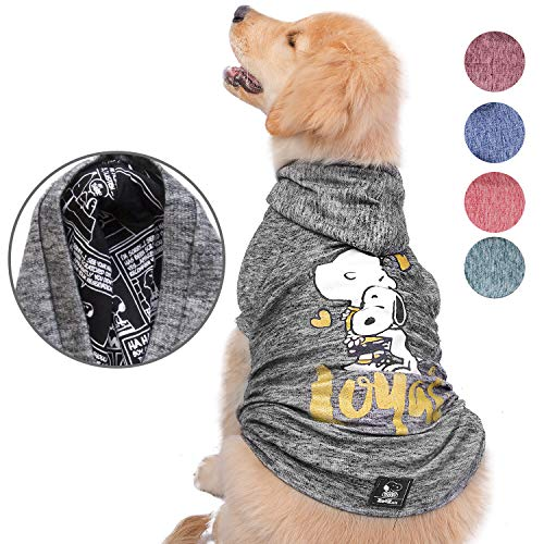 ZOOZ PETS Snoopy Dog Clothes Hoodie - Lightweight Sweatshirt for Dogs & Cats in 5 Different Sizes and Styles - Supreme Hoodies for Dogs, Puppy to XL Pets Dog Sweatshirts for Small, Medium and Large