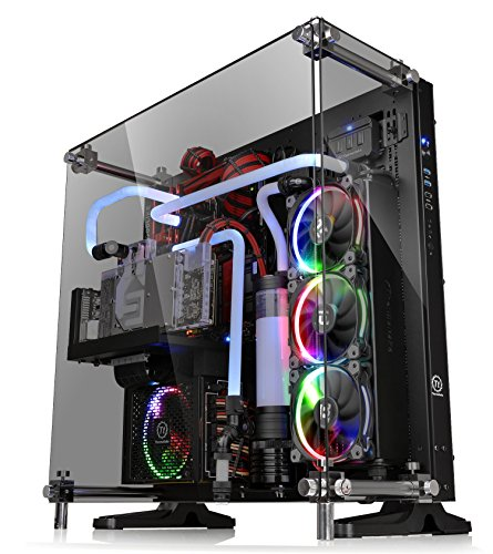 Thermaltake Core P5 Tempered Glass Black Edition ATX Open Frame Panoramic Viewing Tt LCS Certified Gaming Computer Case CA-1E7-00M1WN-03 by Thermaltake