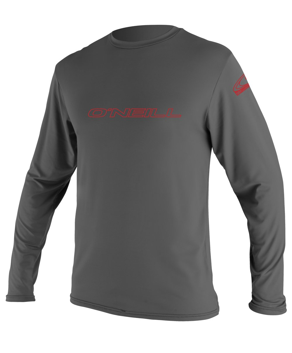 O'Neill Youth Basic Skins UPF 50+ Long Sleeve Sun Shirt, Graphite, 6 by O'Neill Wetsuits