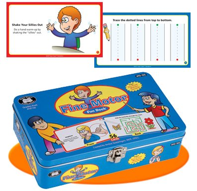 Fine Motor Hand Exercises & Prewriting Skills Fun Deck Flash Cards - Super Duper Publications Educational Learning Toy for Kids