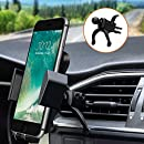 Car Mount,phone holder,Car Phone Mount PATEA Universal 360° Swivel Air Vent Car Phone Holder with A Quick Release Button for iPhone X/8/7P, Samsung galaxy S8/S7,HUAWEI mate 9 and Other Android Phones