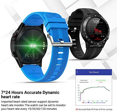 Anmino Smart Watch (GPS +Barometer+Altimeter+Compass),Full HD Touchscreen,All-Day Heart Rate and Activity Fitness Tracker,Pedometer,Calorie Counter,Sleep Tracker,Bluetooth smartwatch 51ej7FS0xJL