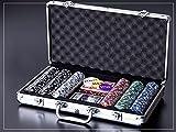 Pc-2246 Input Black Poker Chip Set 300 Casino Games Black Aluminum Case