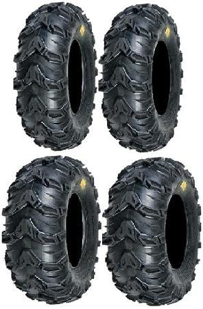 2 FRONT 25x8-12 and 2 Rear 25x11-10 ATV MUD REBEL TIRES 25x8x12 25x11x10  8 11