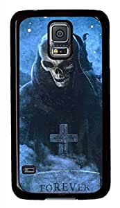 T Skull PC Black Hard Case Cover Skin For Samsung Galaxy S5 I9600