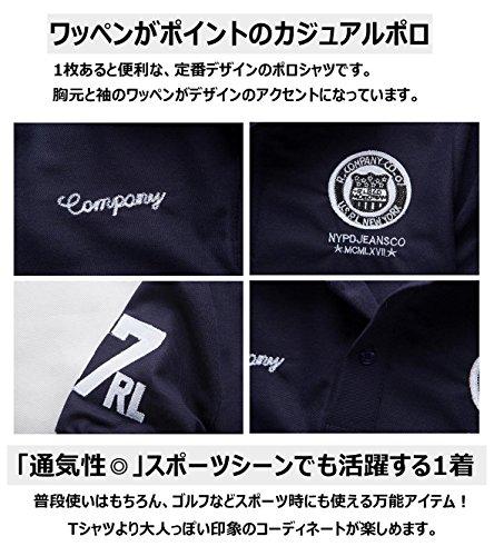 ポロシャツ メンズ 半袖 ボタンダウン 胸刺繍 スポーツ ウェア ゴルフウェア メンズ ポロシャツ 大きいサイズ